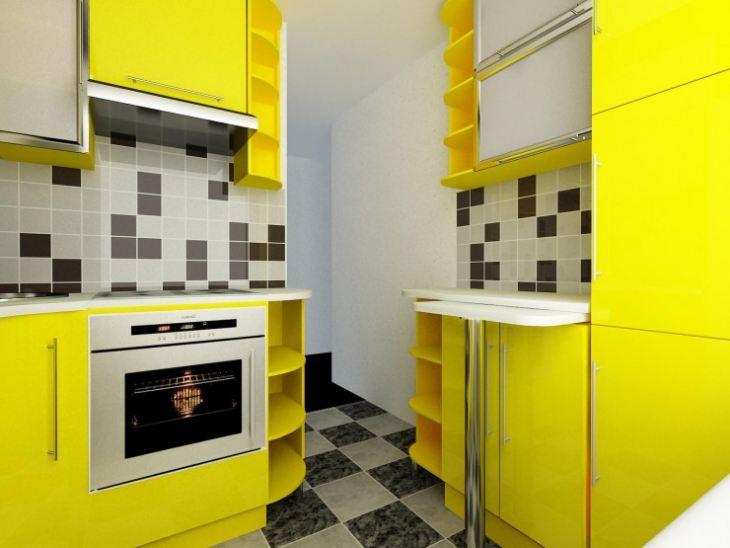 кухни лимонного цвета фото