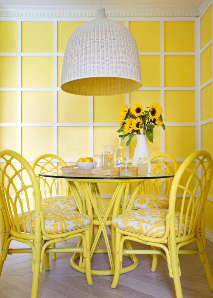 сочетание лимонного цвета
