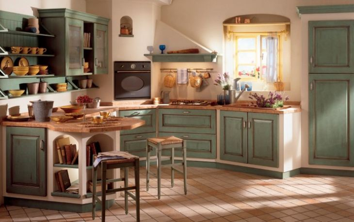 кухни в стиле прованс фото