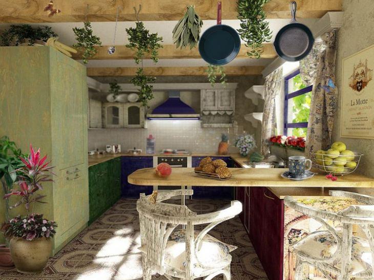 кухни прованс фотостиль провансаль в интерьере фото