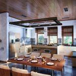 Кухни в американском стиле фотогалерея