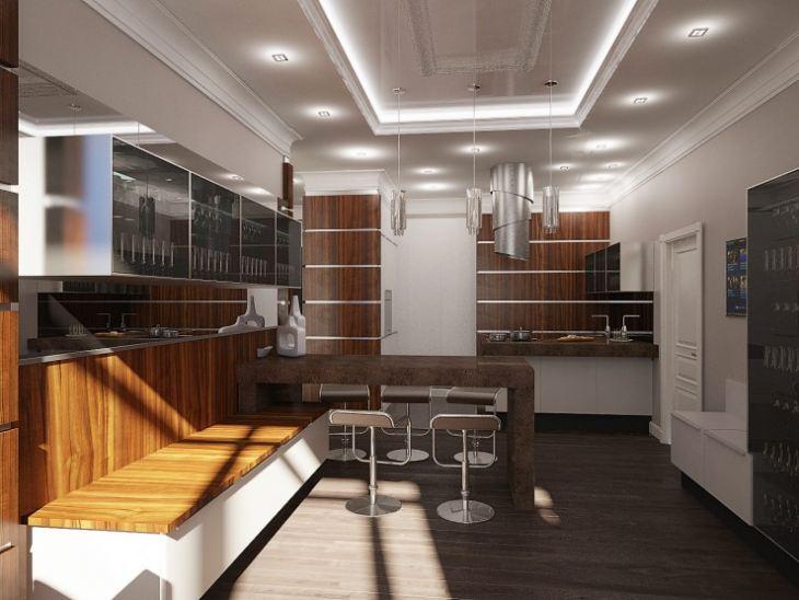 Кухня гостиная в американском стиле