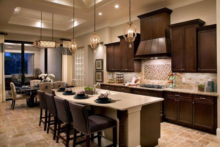 Кухня столовая в американском стиле