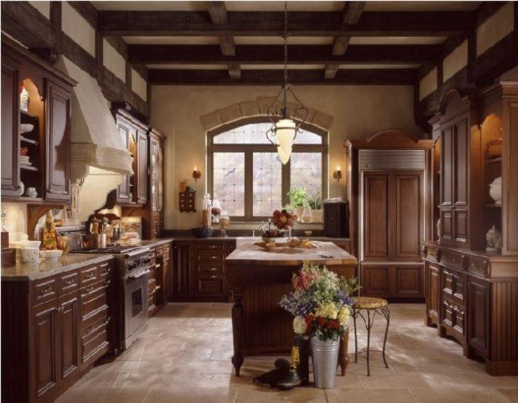 Кухня в стиле средневековья