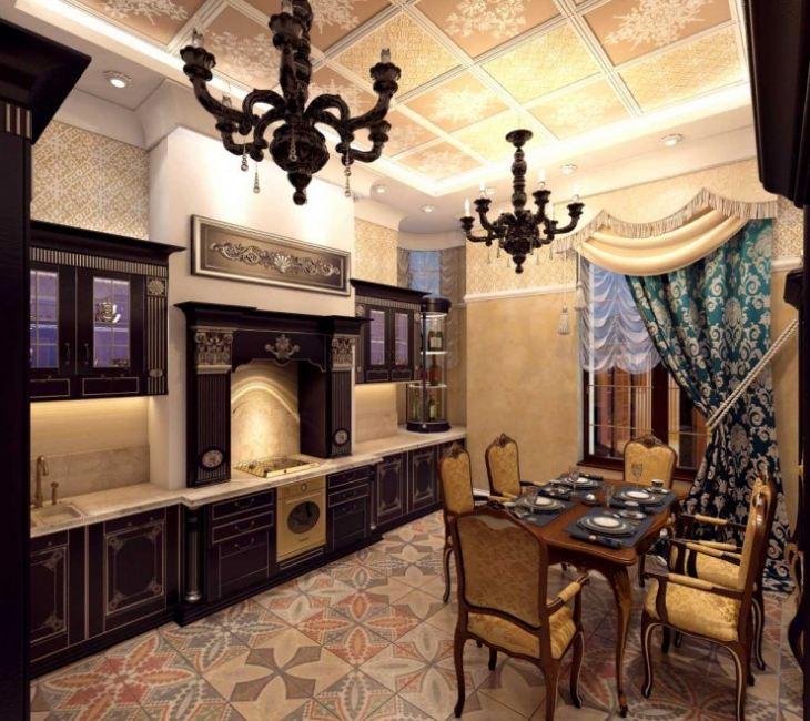 Кухня в средневековом стиле