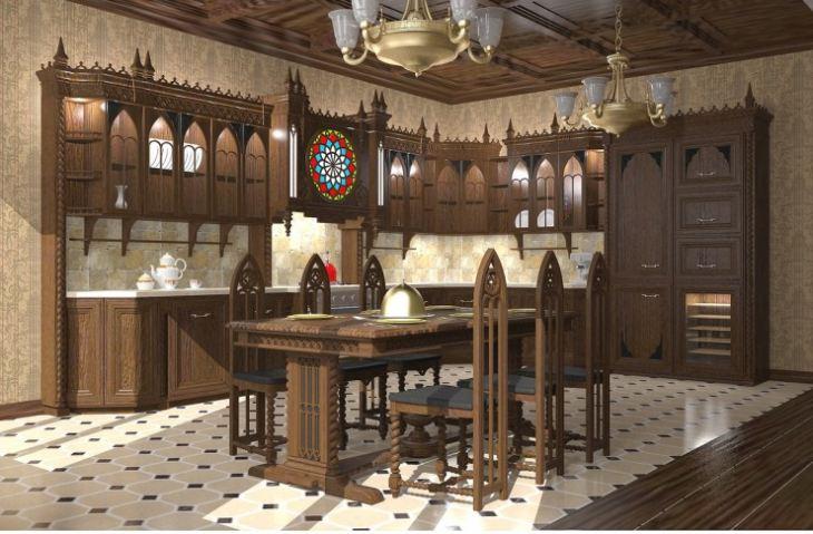 Кухня в готическом стиле фото