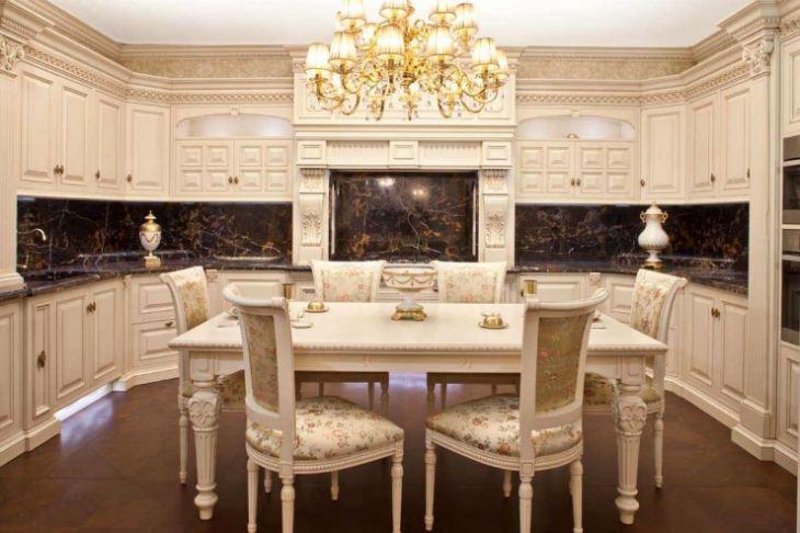 кухня в классическом стиле фото