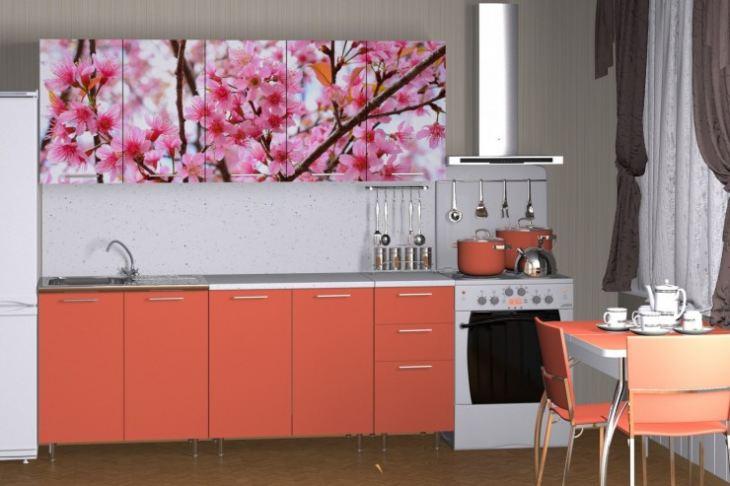 Фотопечать кухни цветы фото