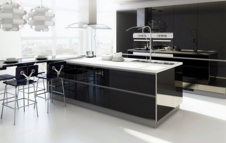 кухня в стиле модерн угловая