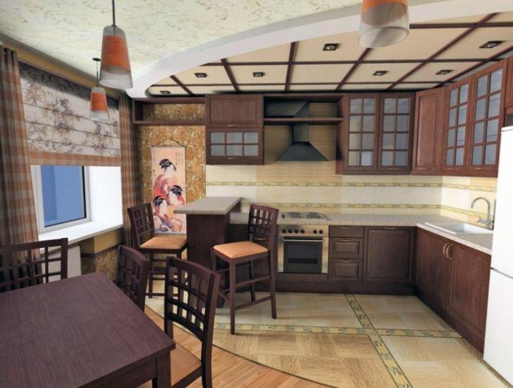 фартук для кухни в японском стиле