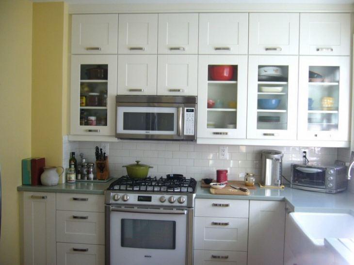 Желтые стены на кухне в интерьере фото