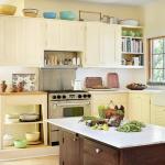 Желто коричневая кухня