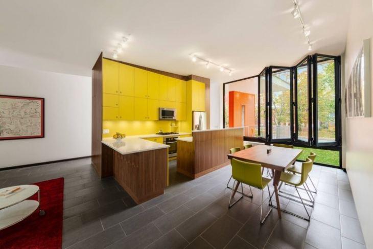 Желтая кухня в интерьере