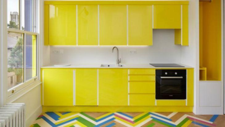 Нежно желтая кухня