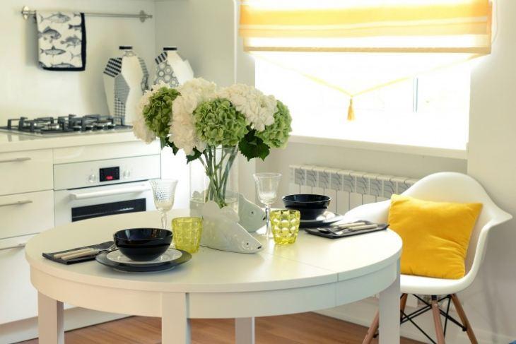Сочетание желтого цвета в интерьере кухни