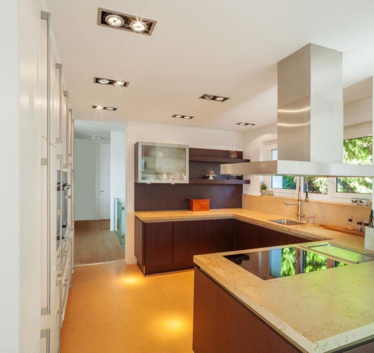 кухня желто черная фото