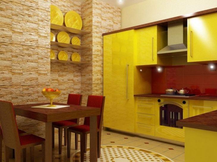 Желтый с коричневым