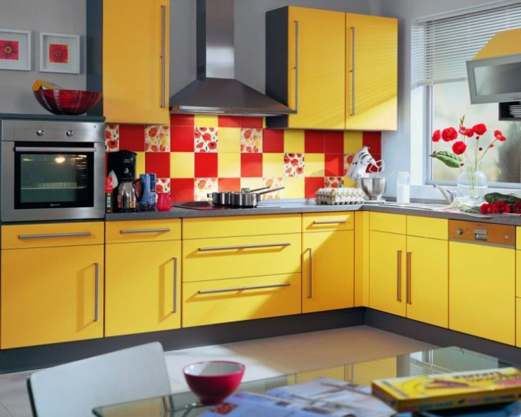 Кухни в желтом цвете интерьер