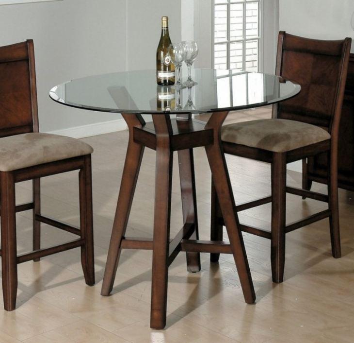 Круглый обеденный стол для маленькой кухни