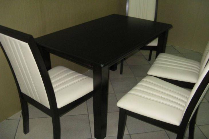 стол с деревянной столешницей