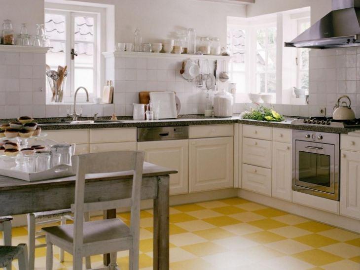 пол в кухне какой лучше