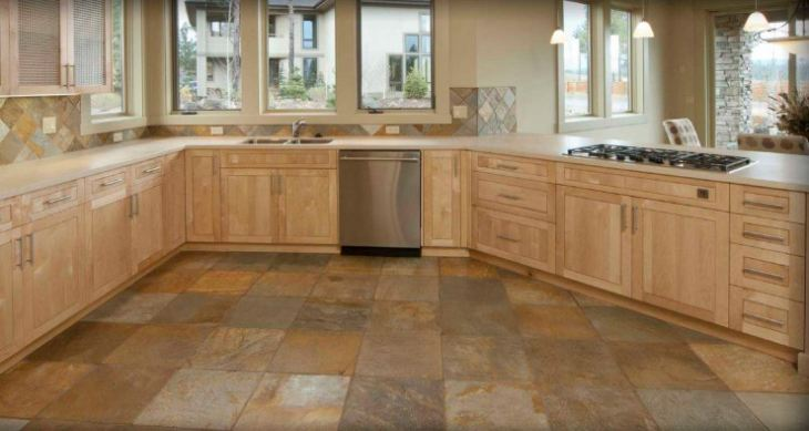 наливной пол на кухне фото