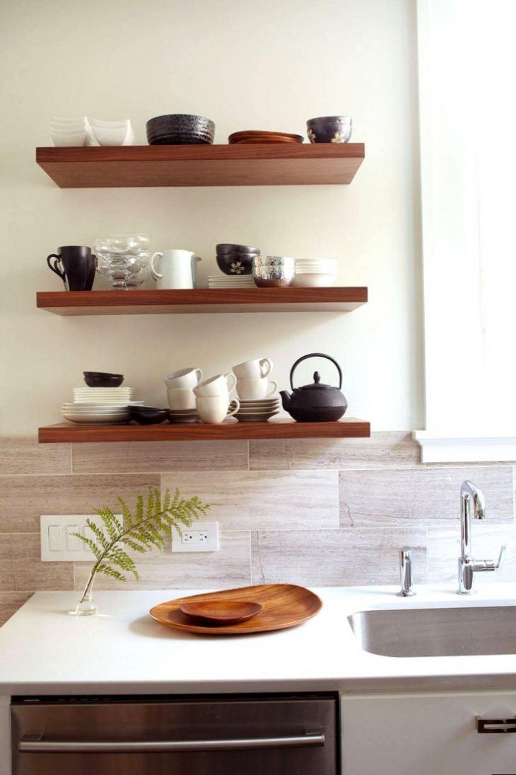 Фото дизайн полочек на кухне