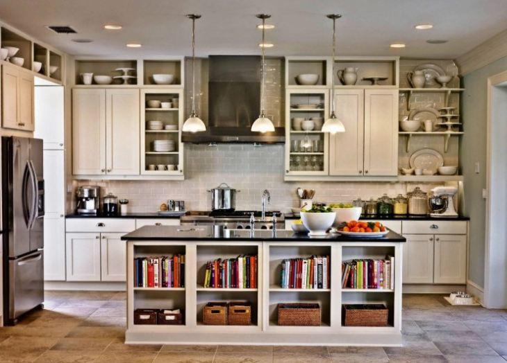 Кухня с антресолями фото