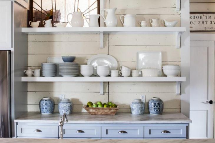 Полка для посуды настенная деревянная своими руками