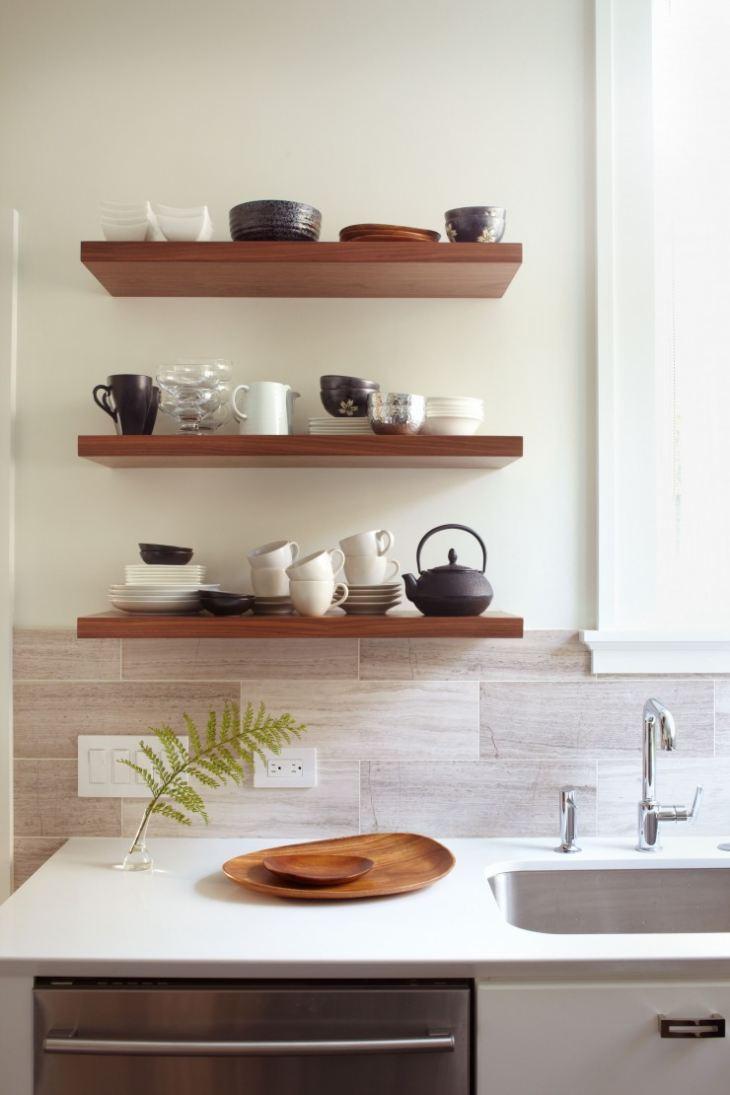 Кухонные полки своими руками