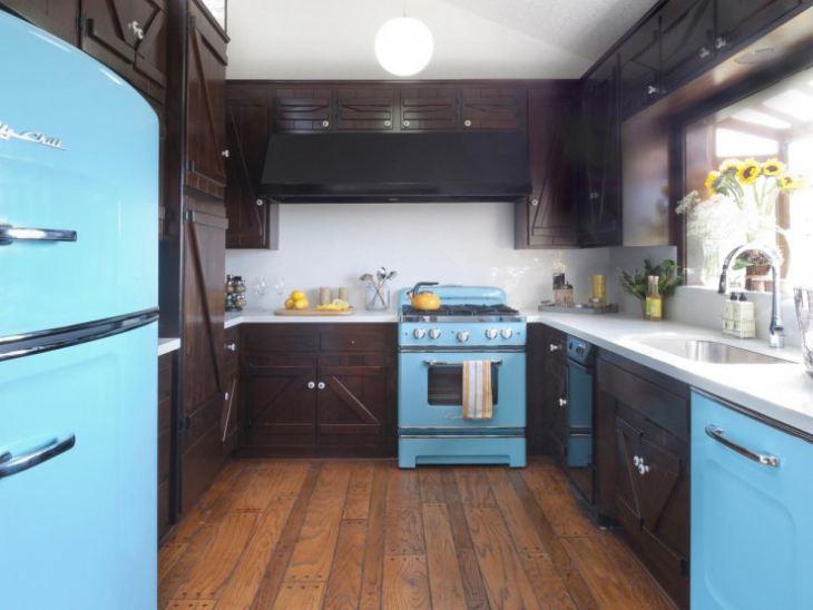 Сочетание цветов с синей кухней