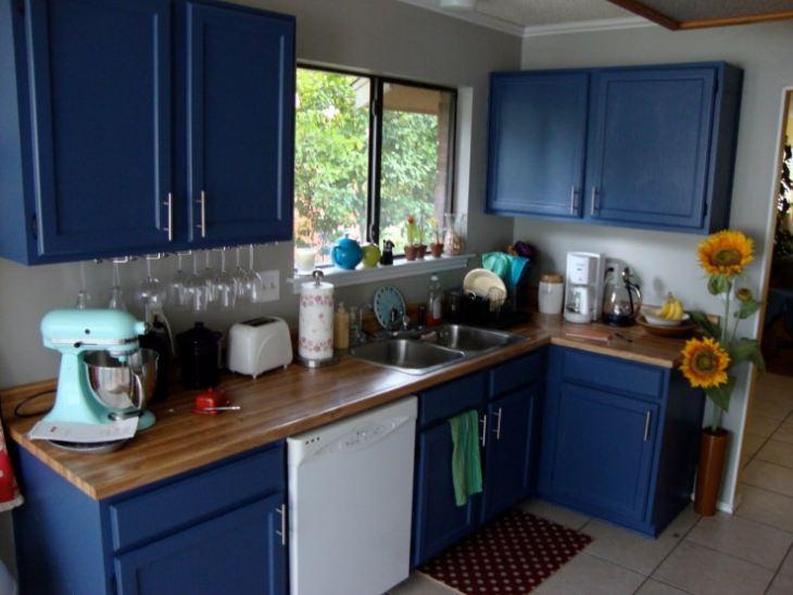 Варианты синей кухни