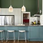 Серо синяя кухня