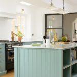 Кухня сине зеленого цвета фото