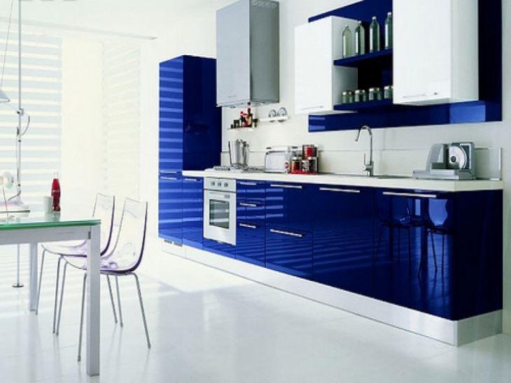 Синие кухни фото дизайн
