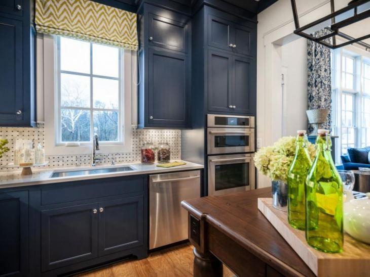 Синий цвет для кухни