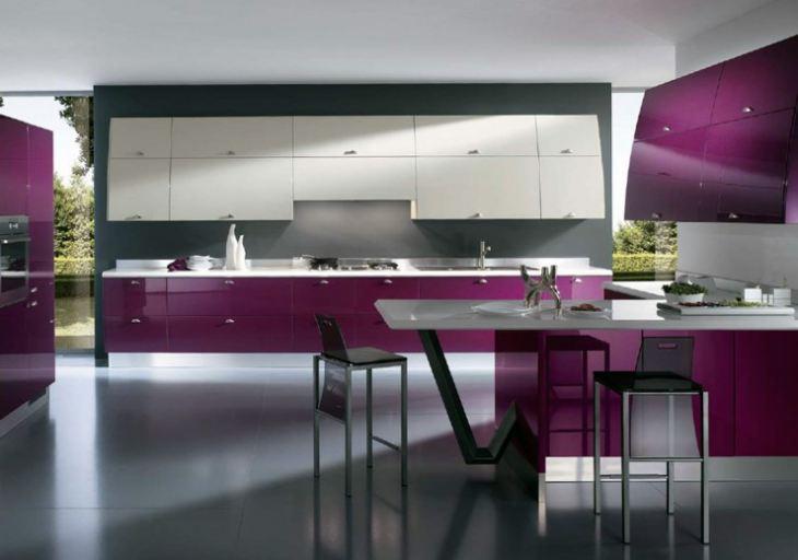 кухня в стиле хай тек фото интерьер