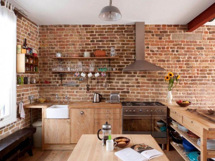 Дизайн стен на кухне