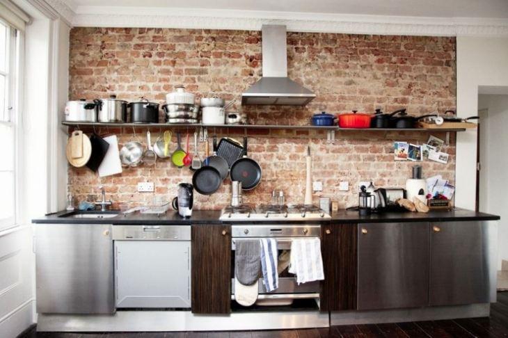 Стены в кухне варианты отделки фото