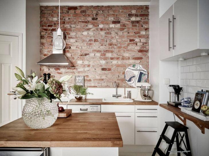 Как оформить стены на кухне фото