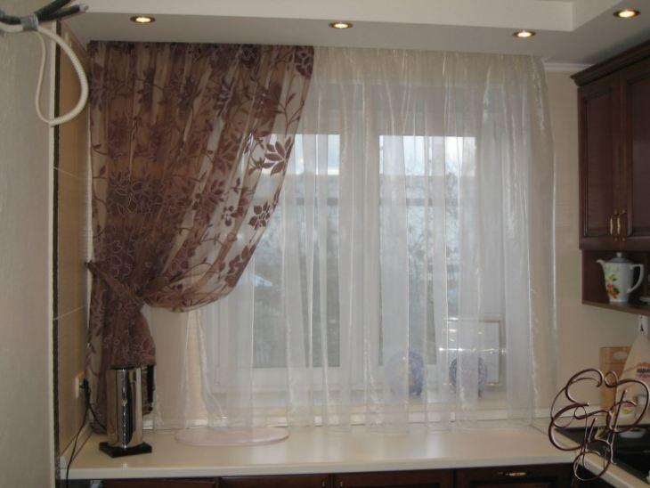 тюль и шторы на кухню