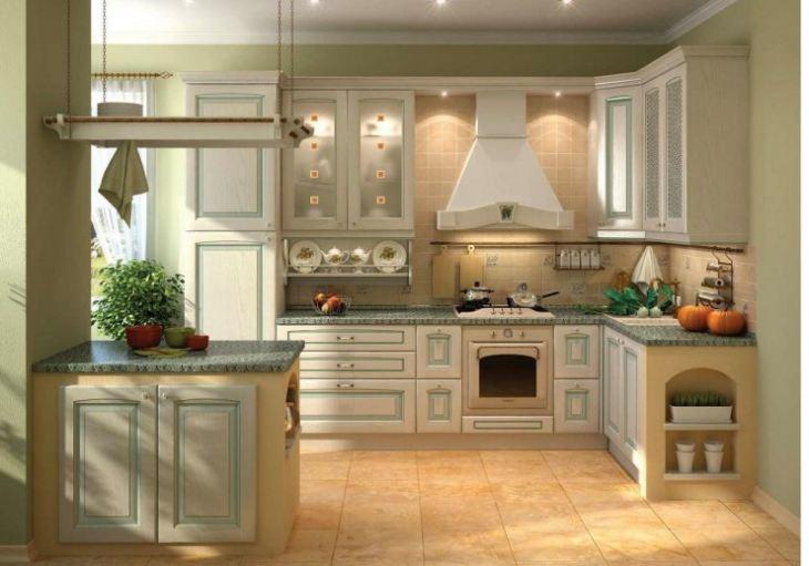 угловая кухня для малогабаритной кухни