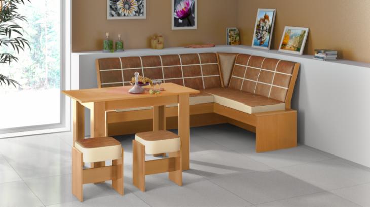 Угловой диванчик для кухни