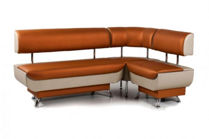 Угловой диван на кухне фото