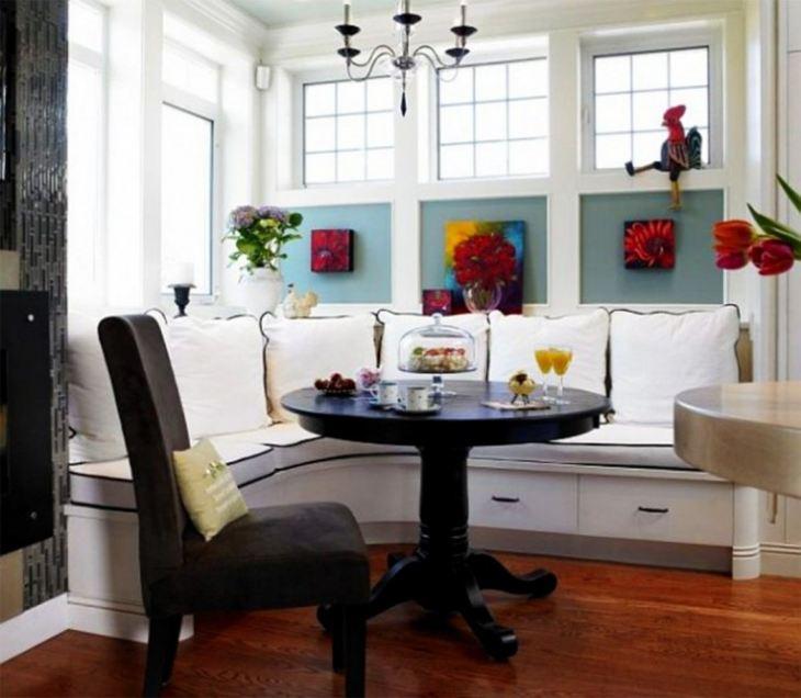 Угловые диваны для кухни фото