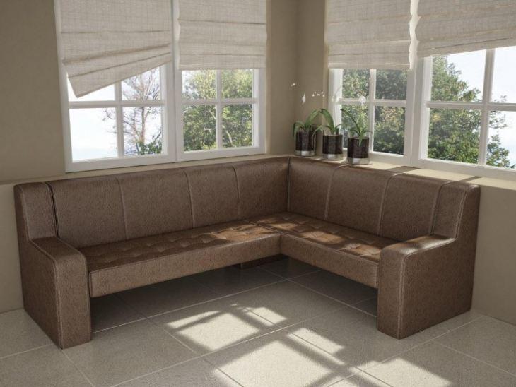 угловая кухня с диваном