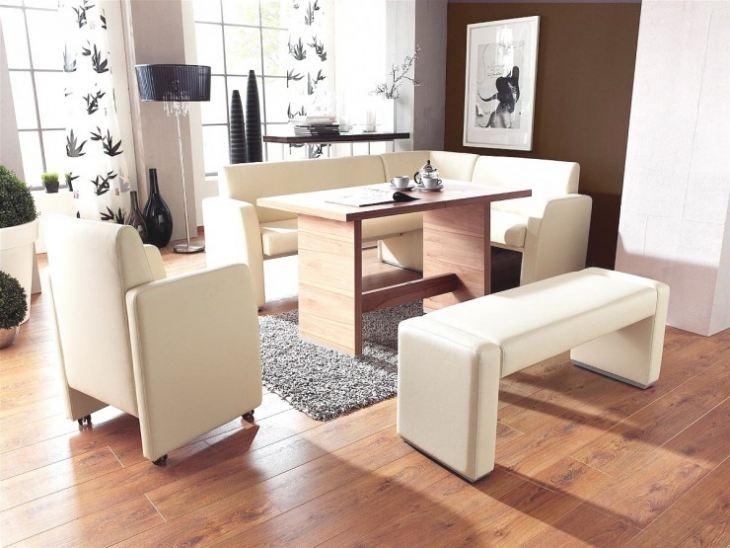 Угловые диваны для маленькой кухни