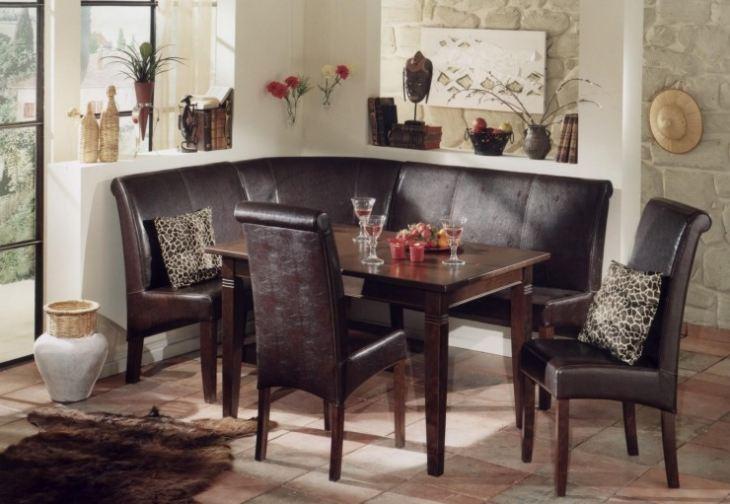 Угловой диван на кухню размеры