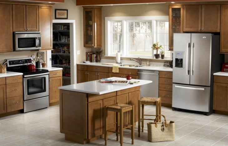 Кухни со встроенной техникой фото