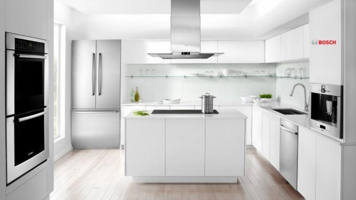 Фото современной кухни с встроенной техникой